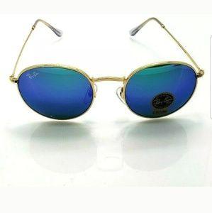 Ray Ban Round Metal Sunglasses G-15 Lenses 3447